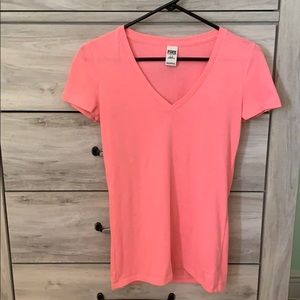 PINK v neck size small